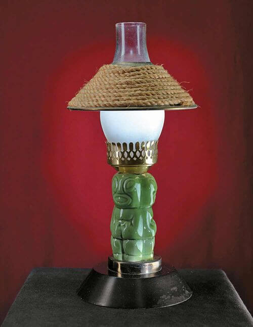 Sven Kirsten/TASCHEN Caption:Tiki table lamp,  from the Luau in Beverly Hills, 1950s