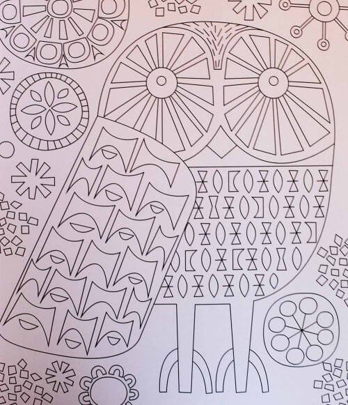 retro midcentury coloring book