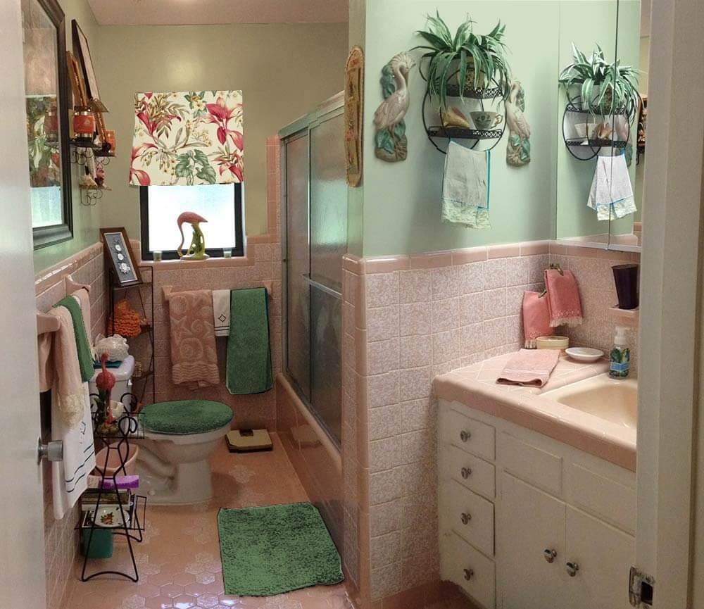 Bright Pink Paint Samples Kitchen Towels: Retro Design Dilemma: Paint Colors Or Wallpaper For Diane