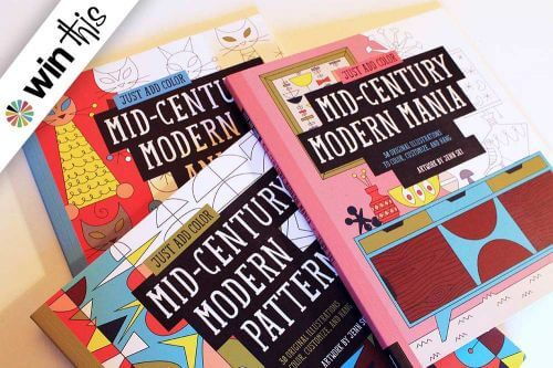 midcentury coloring books