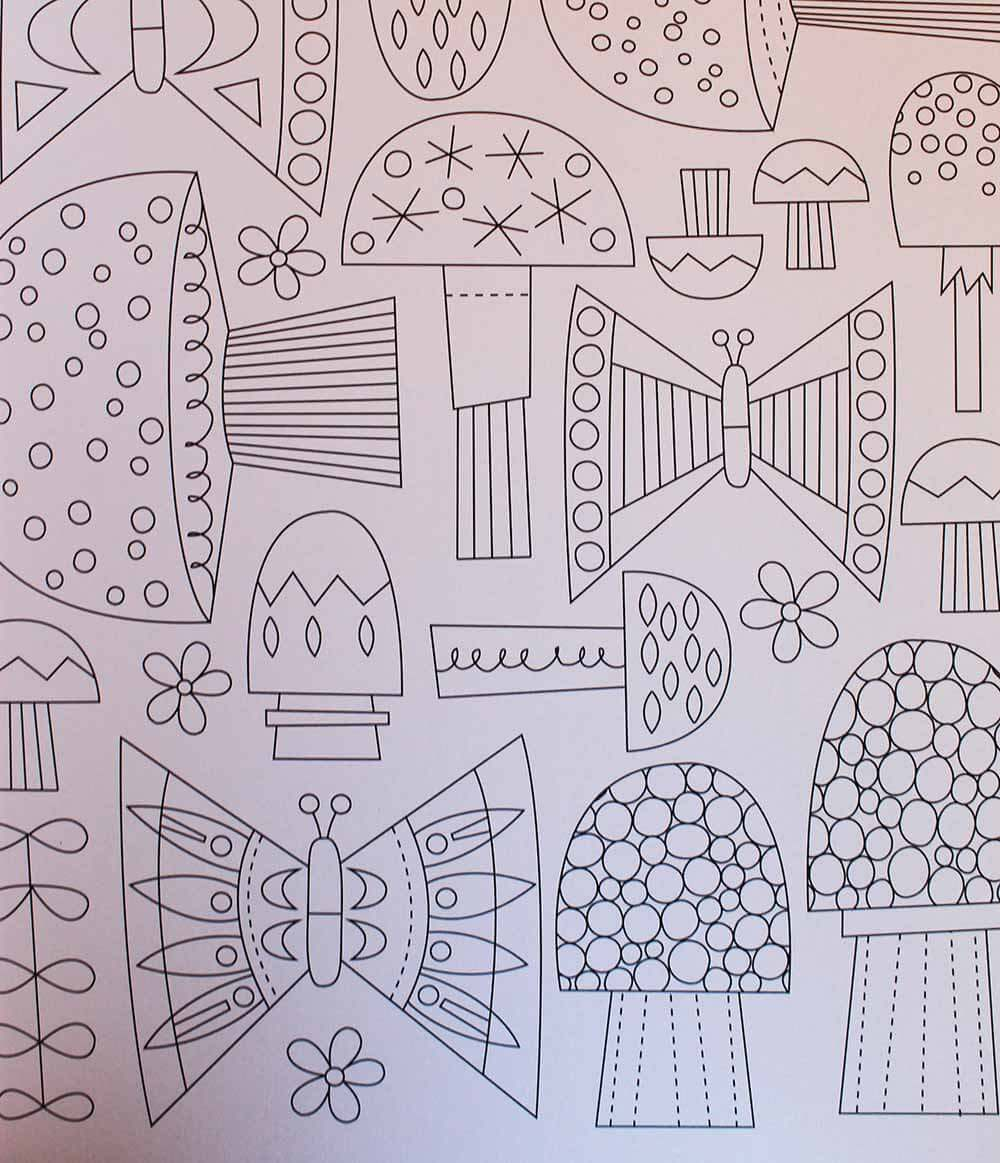 Mid Century Modern Coloring Books For Adults