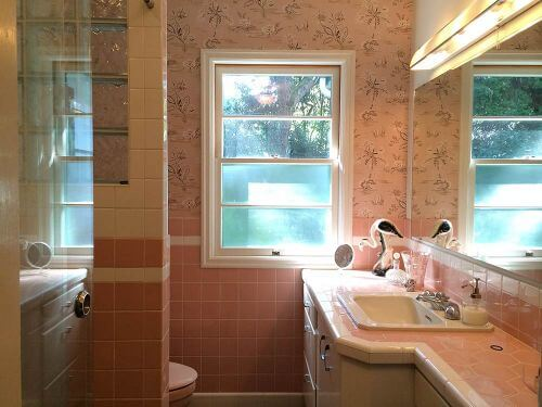 A Mamie Pink Bathroom Built From Scratch Sneak Peek Of