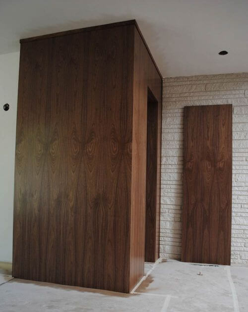 midcentury entry door