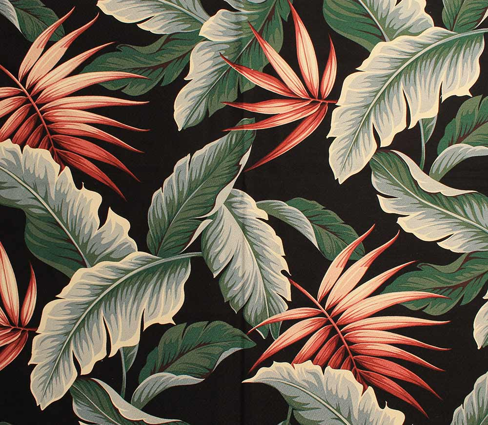 The Hawaiian barkcloth pattern that is setting the stage  : retro botanical barkcloth6 from retrorenovation.com size 1000 x 870 jpeg 141kB