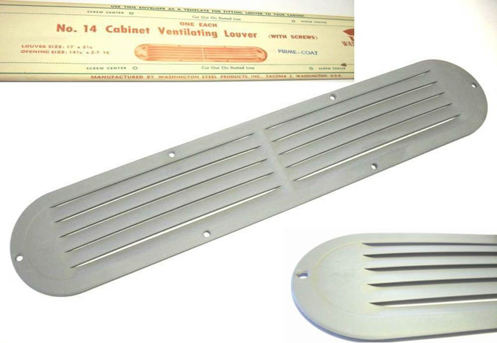 Stash of nos kitchen sink cabinet vents made by washington steel products retro renovation - Kitchen sink drain vent ...