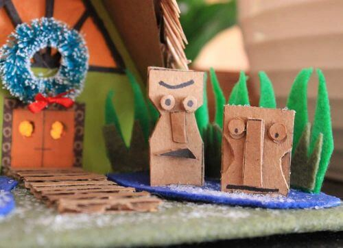 miniature tiki hut