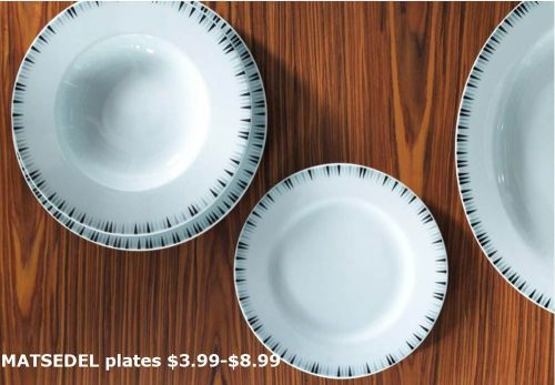 mid century modern dinnerware - reissued  from the 1950s original designs -- from ikea