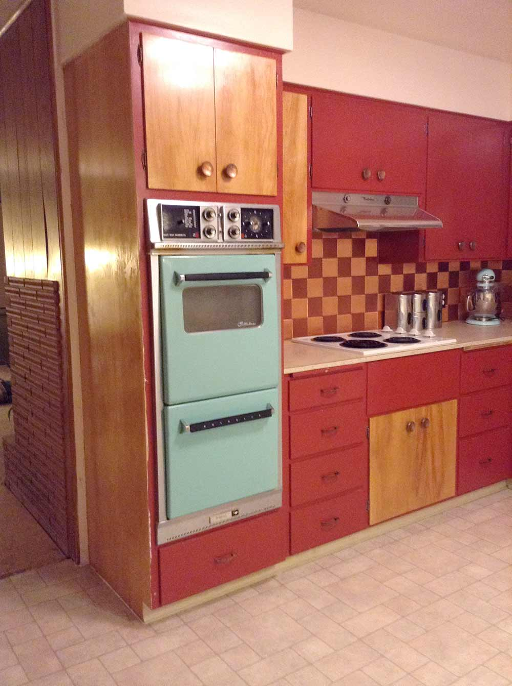Retro Kitchen Flooring Flooring And Countertops For Shannans 1950s Kitchen Retro