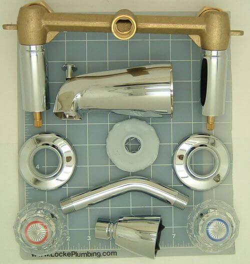 vintage style shower tub faucets