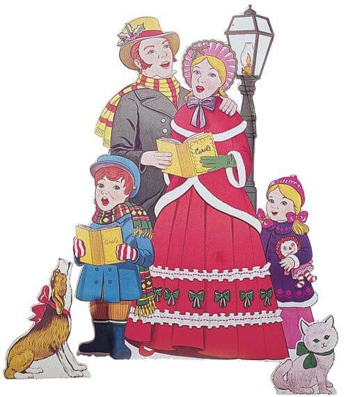 Christmas Carolers Yard Decorations: Holiday Lawn Displays Available Since 1948