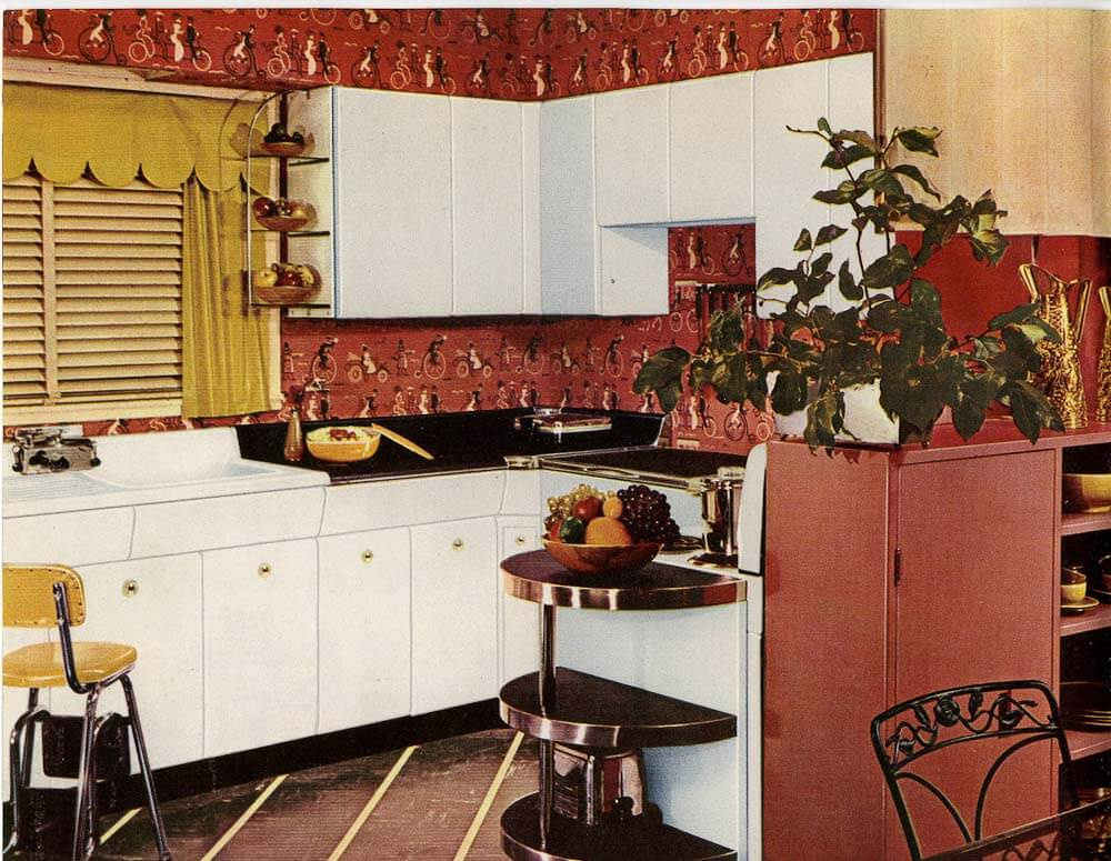 Six Kitchen Designs From 1953 Avco American Kitchens