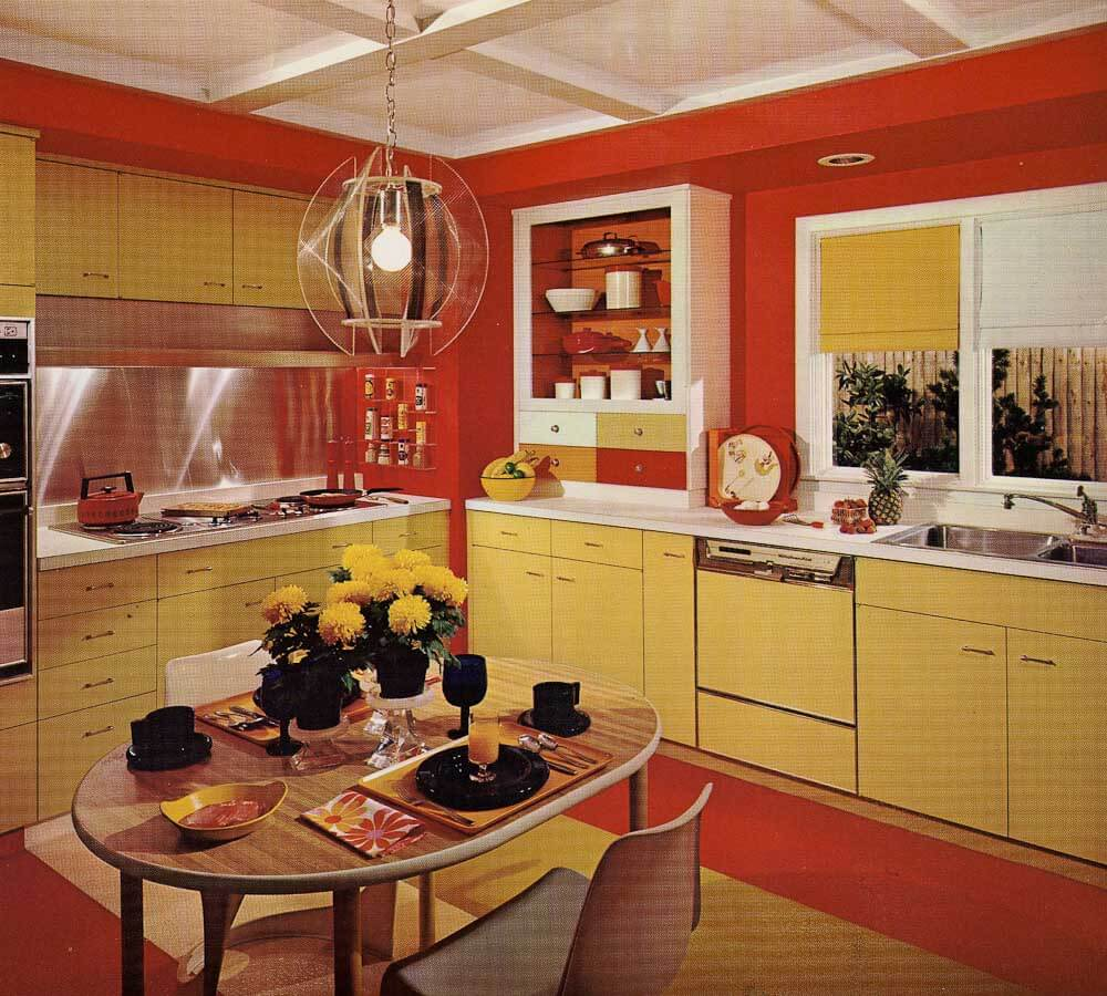 1970s kitchen design one harvest gold kitchen decorated for Interior design 70s house