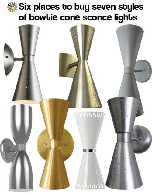 bowtie cone light sconces