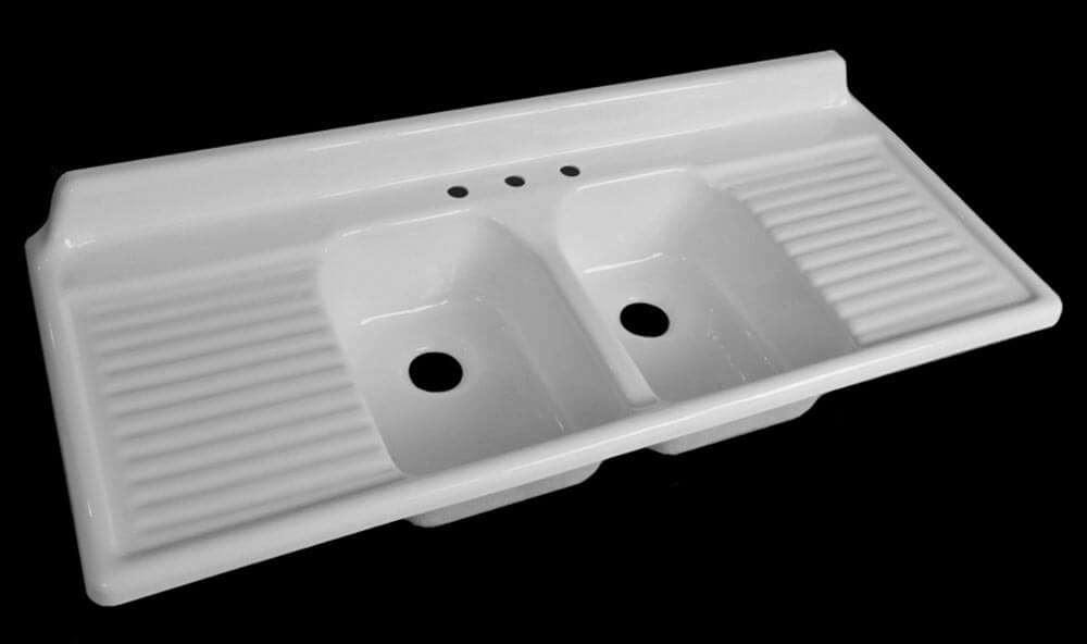 Plastic Utility Sink With Drainboard : Double Bowl Laundry Tub Utility Sink