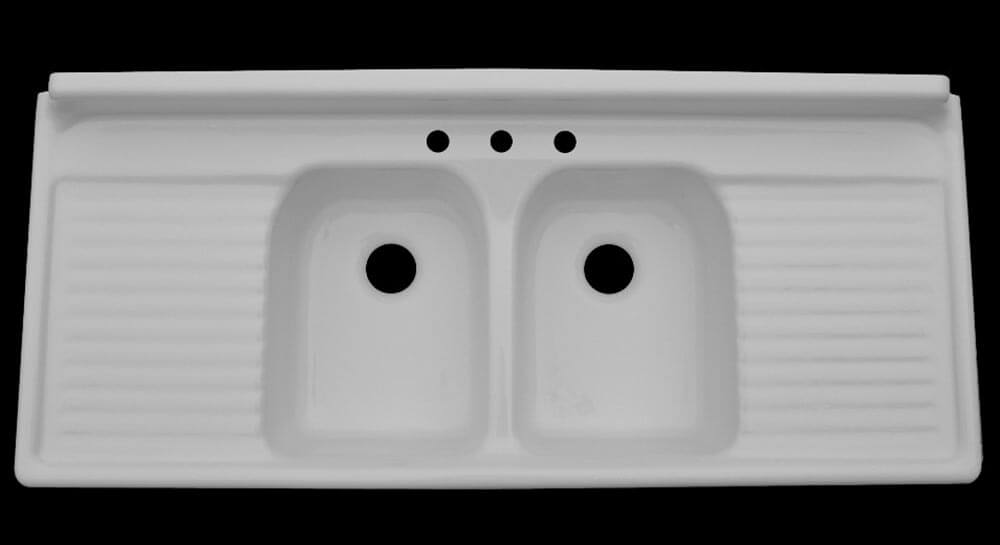 ... and Bath is a 66? wide double sink double drainboard farmhouse sink