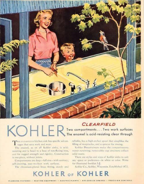 kohler drainboard sink