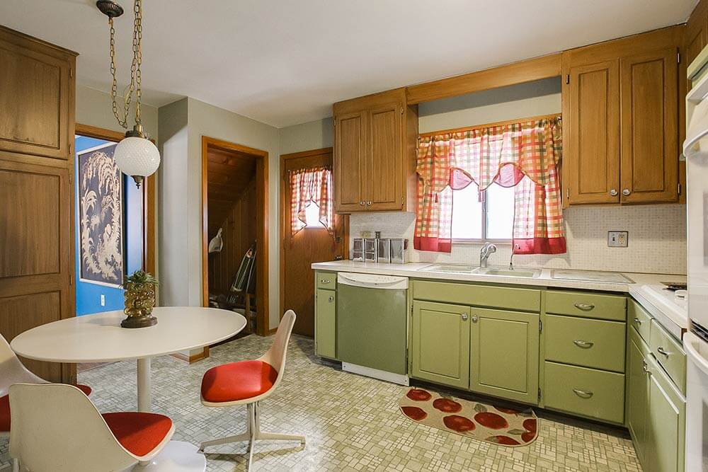 6 cheap cheerful and colorful decorating ideas from jon for 70s style kitchen cabinets