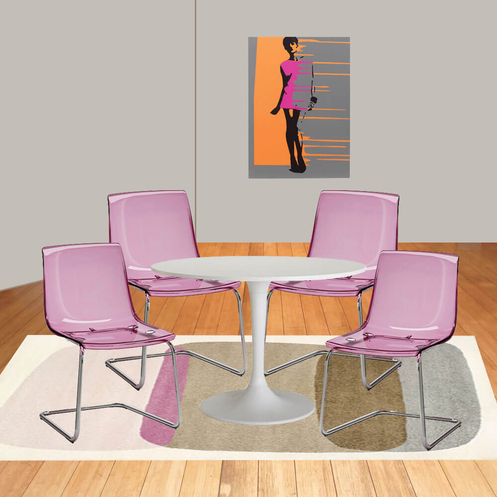 Dining Room Ideas Ikea: A Pop Art Chic Ikea Dining Room For Just $775