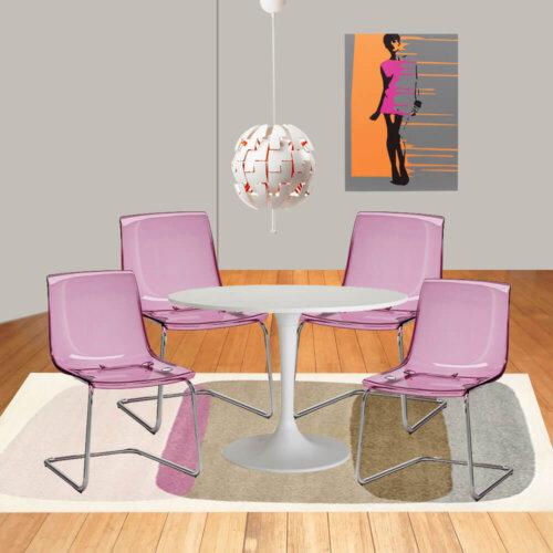 Ikea mid mod dining room