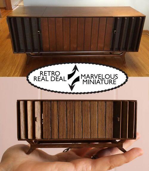 miniature vintage furniture