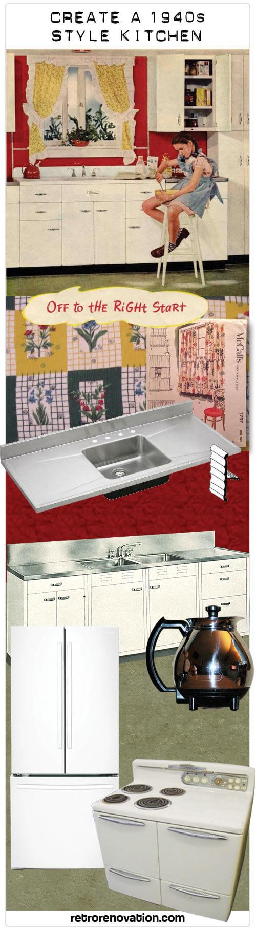 my 1940s kitchen design board 3 retro renovation. Black Bedroom Furniture Sets. Home Design Ideas