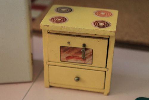 dollhouse kitchen midcentury retro