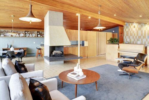 1955 midcentury modern time capsule house in Minneapolis