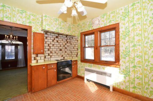 late 60s kitchen wallpaper