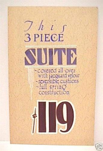vintage furniture store sign