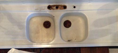 vintage drainboard sink