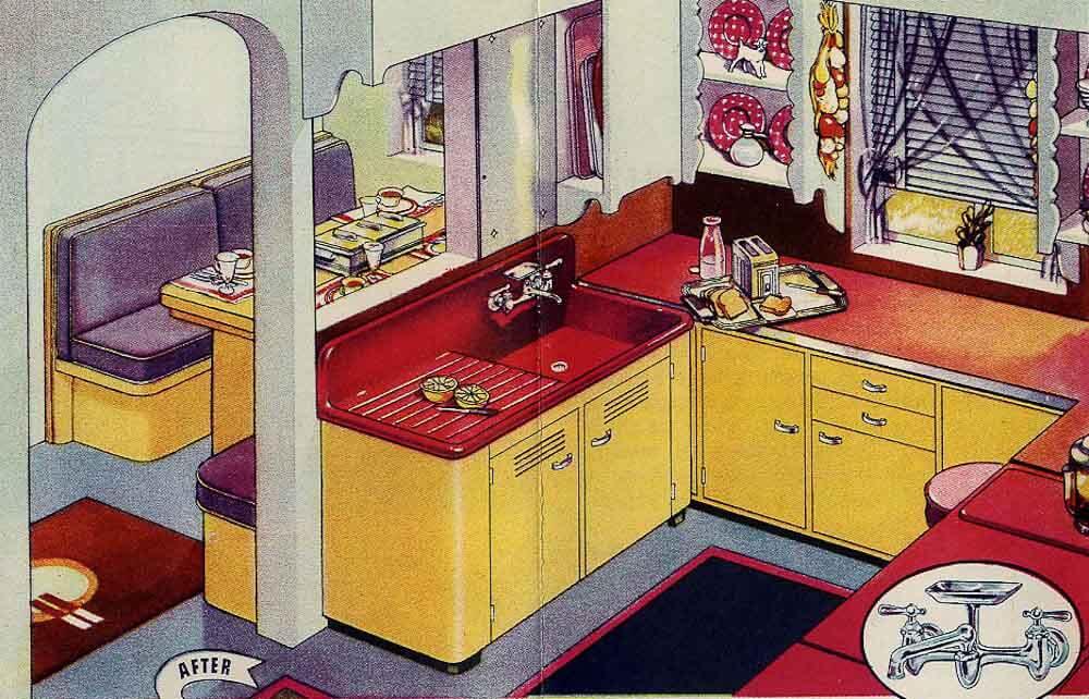 Classic Colors For A 1940s Kitchen Ming Green Ivoire De