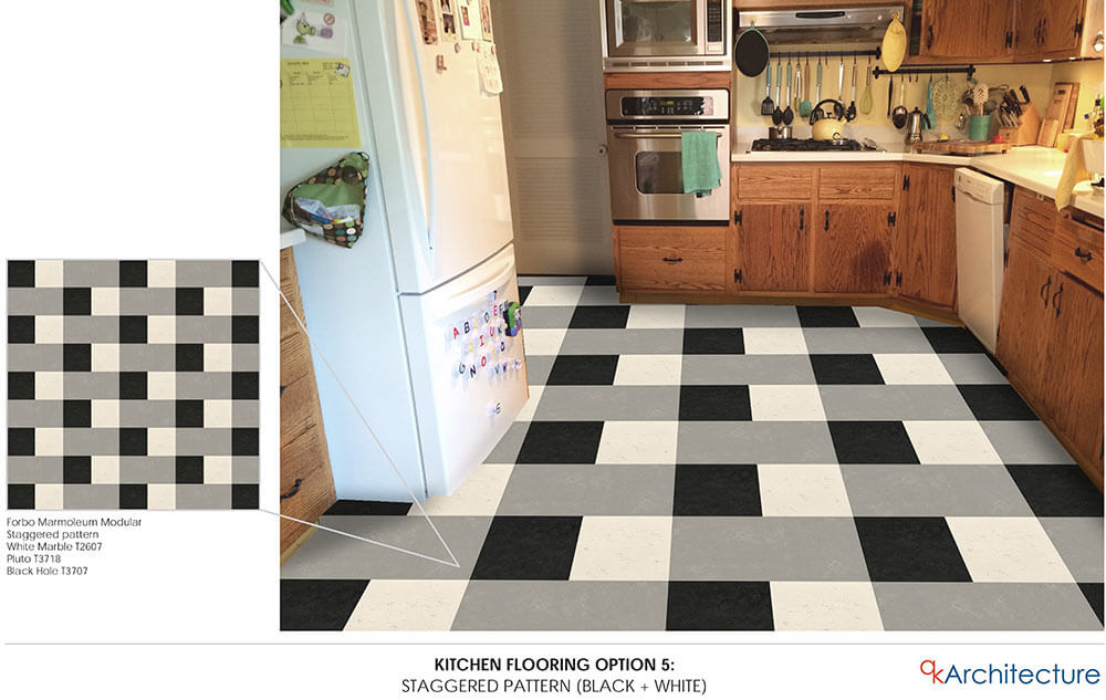 exceptional Kitchen Floor Patterns #4: ... retro kitchen floor ...