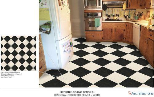 retro kitchen floor