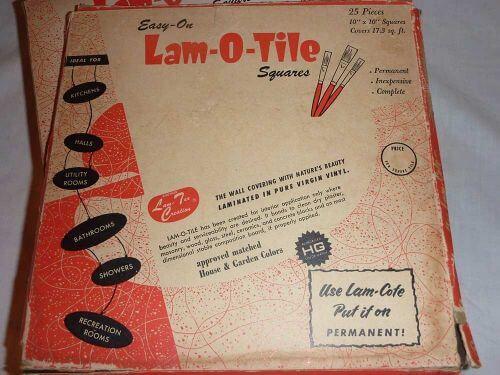 vinyl Lam-O-Tile wall tile