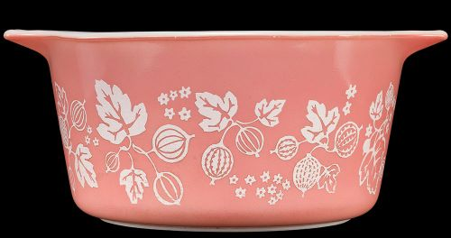 "Pyrex One-Quart Casserole, ""Gooseberry"", made by Corning Glass Works, Charleroi, Pennsylvania,  1957-1966. Courtesy of the Corning Museum of Glass."