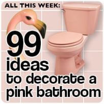 vintage pink bathroom decor