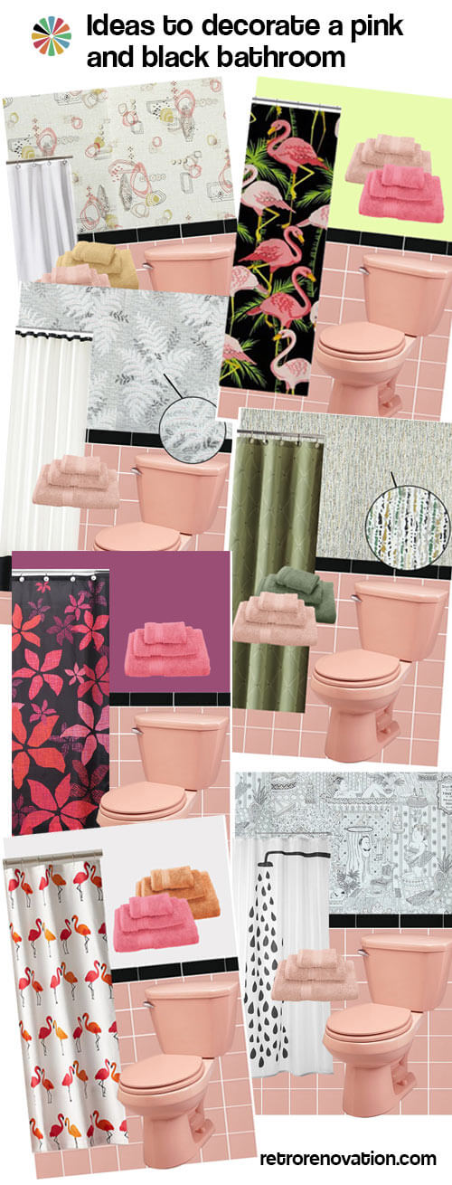 Pink and black bathroom ideas for Pink black bathroom ideas