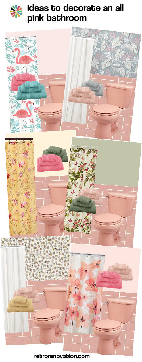 13 ideas to decorate an all pink tile bathroom retro - Pink bathtub decorating ideas ...