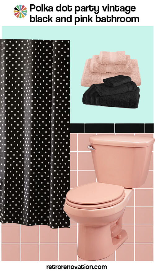 16 designs to decorate a pink and black bathroom retro