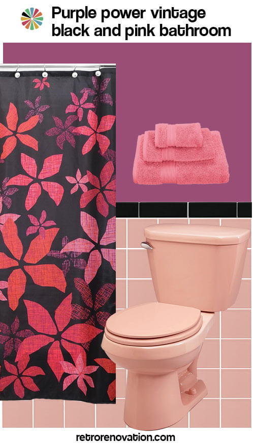 16 designs to decorate a pink and black bathroom retro black and pink bathroom ideas 10 background