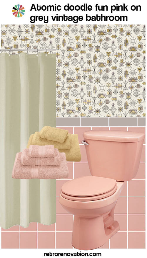 12 ideas to decorate a pink and gray vintage bathroom for Pink and grey bathroom decor