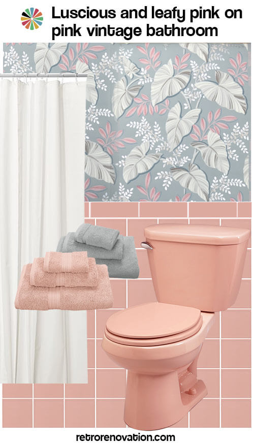 13 ideas to decorate an allpink tile bathroom  retro
