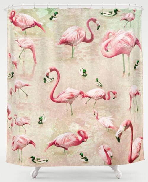 My 10 favorite flamingo shower curtains + 24 more! - Retro ...