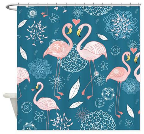 My 10 Favorite Flamingo Shower Curtains 24 More Retro
