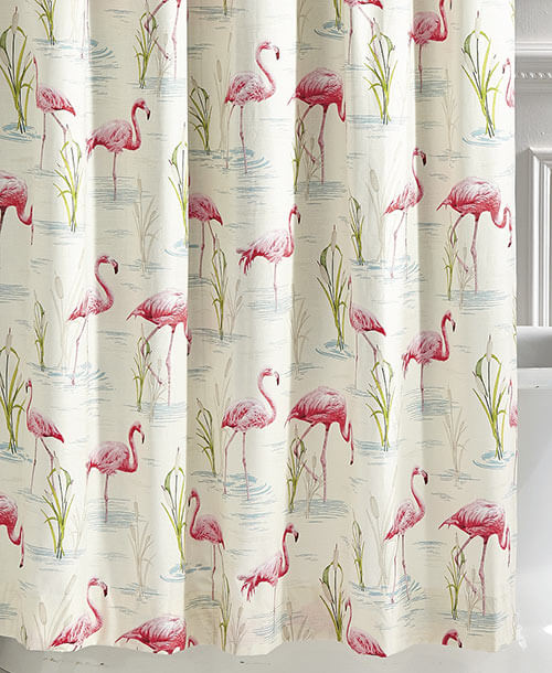 My 10 Favorite Flamingo Shower Curtains 24 More Retro