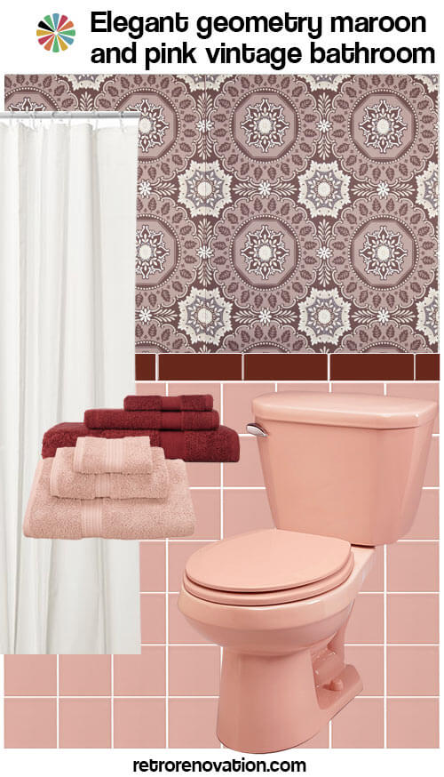 11 Ideas To Decorate A Burgundy And Pink Bathroom Retro