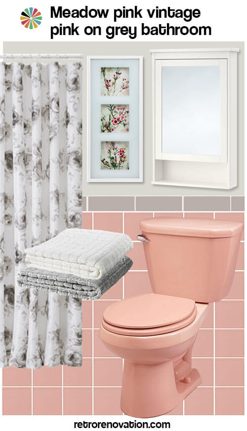 12 ideas to decorate a pink and gray vintage bathroom