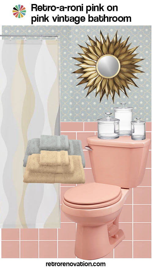 13 Ideas To Decorate An All Pink Tile Bathroom Retro