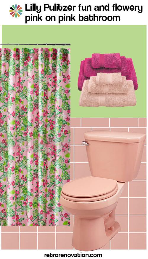 vintage pink bathroom