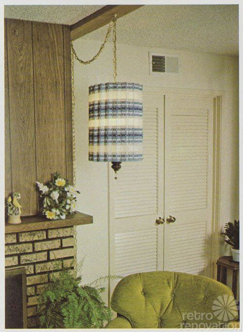 1970s swag lamp